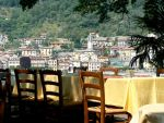 View from Locanda dell'Isola Comacina  towards Sala (courtesy Loconda dell'Isola website)
